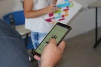 Tela do aplicativo desenvolvido para o Encontro de Extensão - Foto: Junior Ribeiro/2019