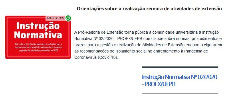 Instrução Normativa PROEX Nº02_2020